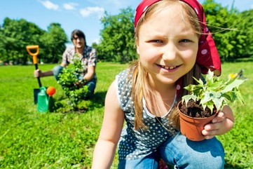 Earth day activity girl planting tree 700x465