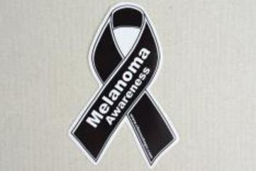 Ribbon awareness decal medium melanoma black 17523386 235 156