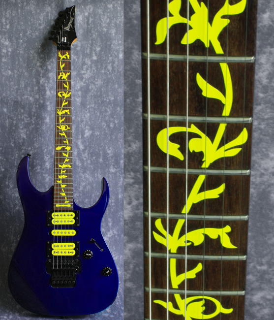 Ibanez inlay yellow