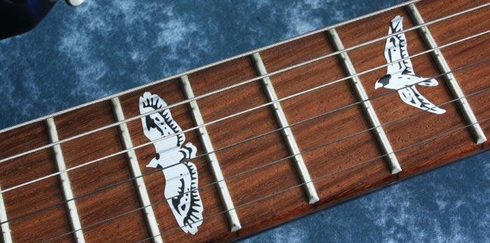 Birds guitar inlay modify fingerboard custom