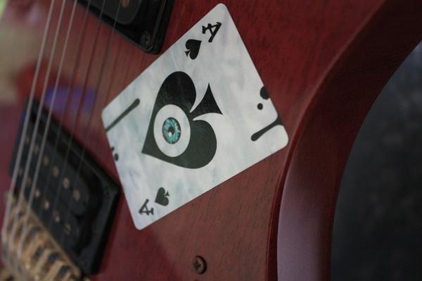 eyeball inlay guitar