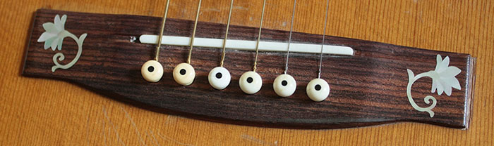 Guitar Bridge Inlay