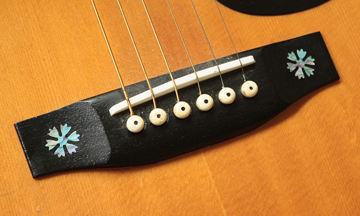 Guitar Bridge snow flakes Inlay
