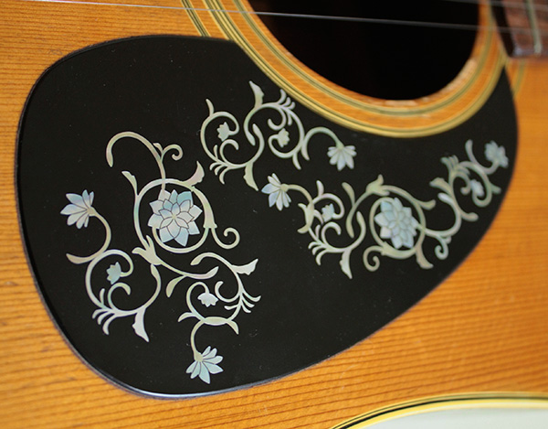 oriental flower inlay