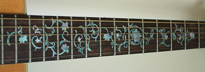 inlay flower guitar neck
