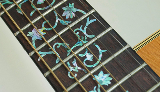 oriental flower inlay decal