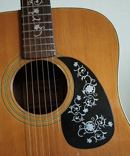 Takamine flower inlay decal