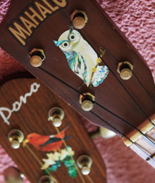 owl inlay decal