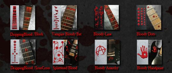 blood guitar splatter square