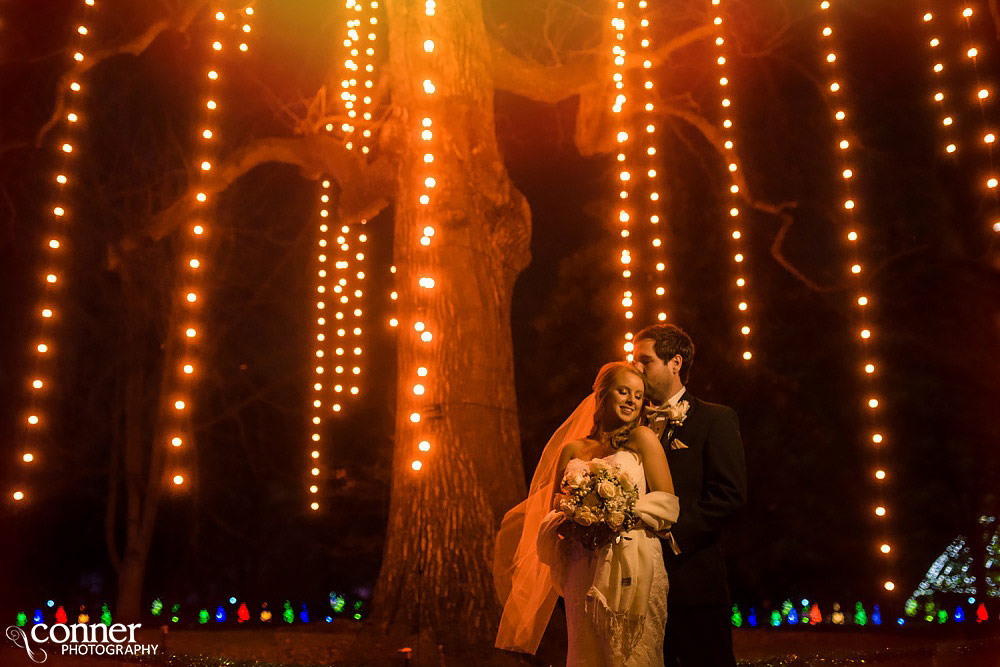 missouri botanical garden glow wedding