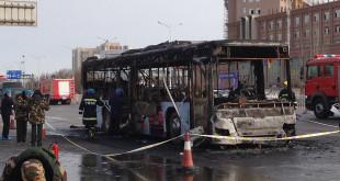 Autobús incendiado en china