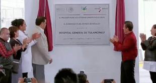 EPN inauguración del Hospital General de Tulancingo