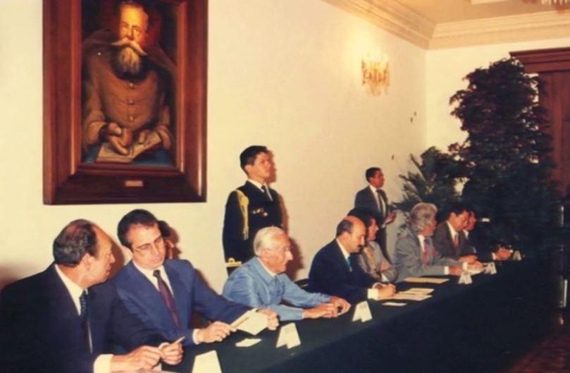 Foto 8 Zedillo, Cousteau, Salinas JMC, Cpolosio, Camacho y Arvizu Salon Carranza de los Pinos