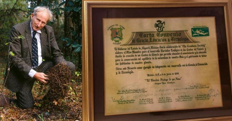 Foto 5 HT Odum y el Diploma del Plan Maestro