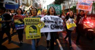 protesta en Peru