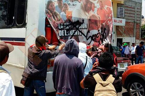 vandalismo frente a IEEPO