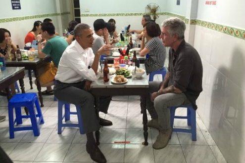 Obama y Anthony Bourdain