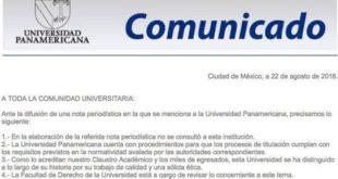 comunicado UP