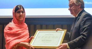 Malala mensajera de la paz