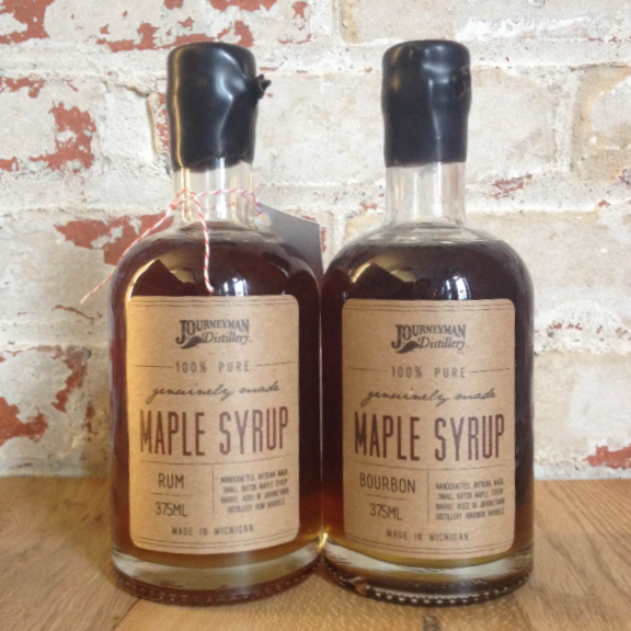 Journeyman Distillery Bourbon Rum Barrel Aged Maple Syrup