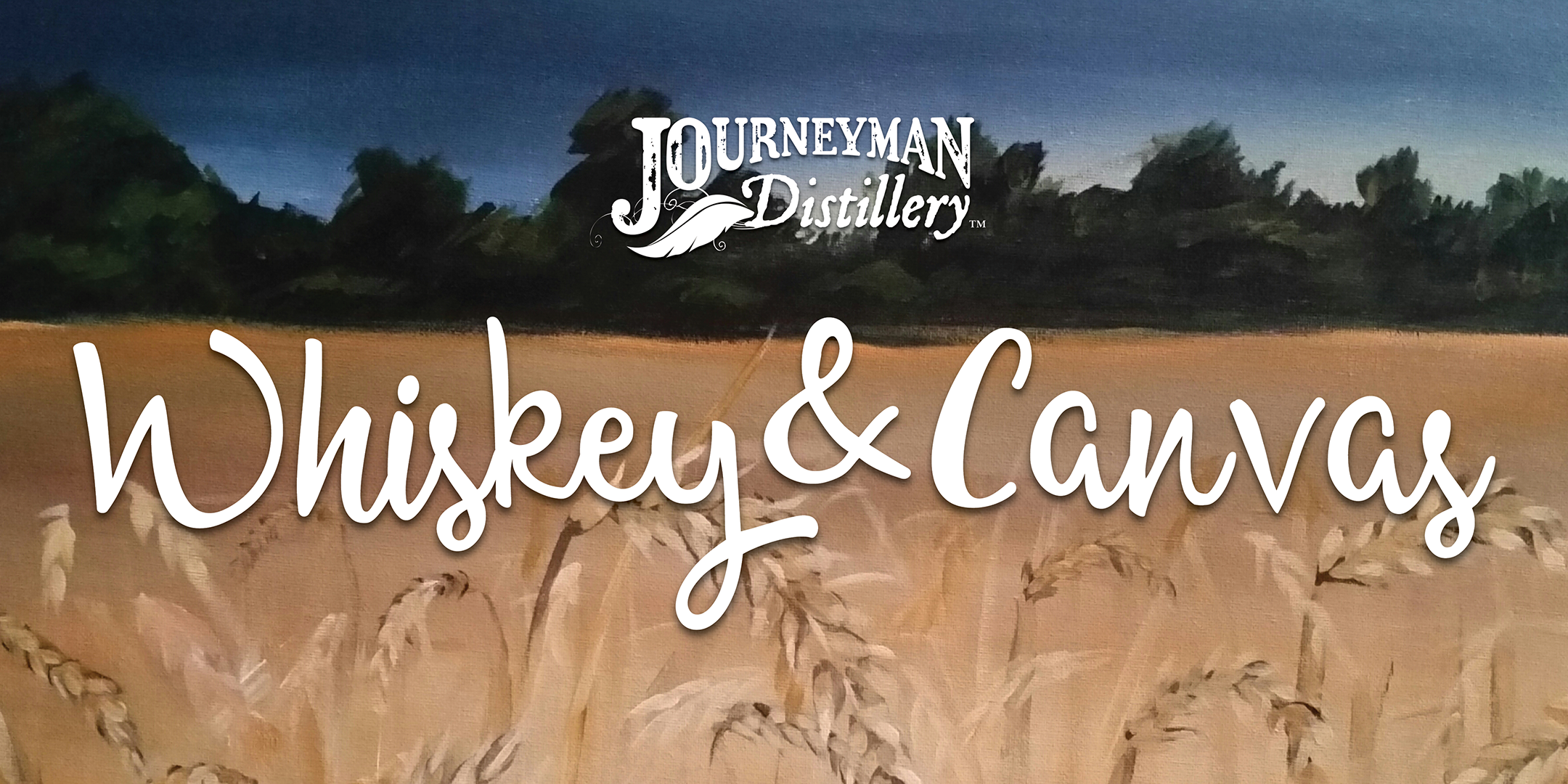 Whiskey and Canvas - Eventbrite Banner
