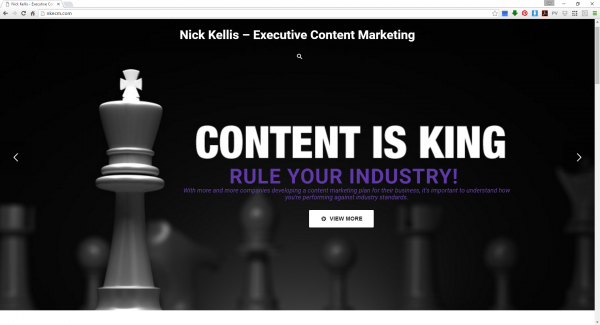 Nick Kellis Executive Content Management Website