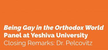 Closing Remarks: Dr. Pelcovitz