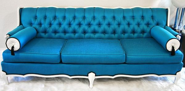 Example Of Silk Dupioni Used On A Sofa