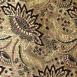 SILK BROCADE PATTERNED - SAGE GOLD [BR701]
