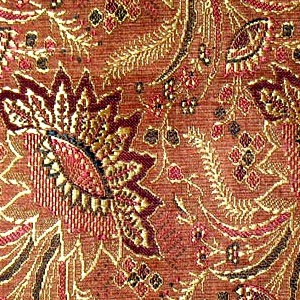 SILK BROCADE PATTERNED - RED WOOD  [BR705]
