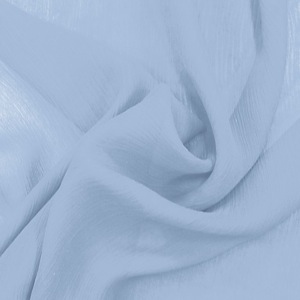 SILK CHIFFON CRINKLES - CASHMERE BLUE [CCP523]