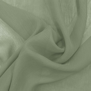 SILK CHIFFON CRINKLES - OIL GREEN [CCP530]