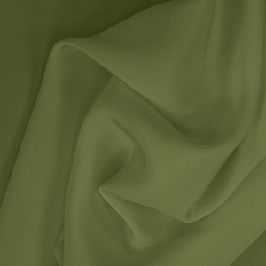 SILK CREPE DE CHINE SOLIDS - PESTO [CDCP540]