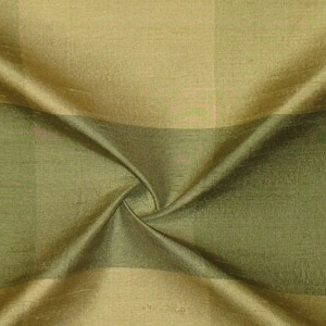 SILK DUPIONI PLAIDS - GMIST DK.OLIVE LIME GREEN [DMP458]