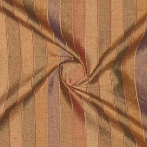 SILK DUPIONI STRIPES - COCOA TAN [DMST127]