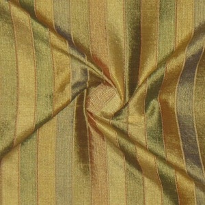 SILK DUPIONI STRIPES - BUTTERCUP [DMST131]
