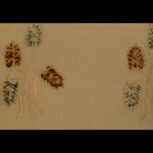 SILK DUPIONI EMBROIDERED-HEAVY - SURRY BEIGE [EMBH153]