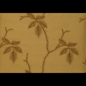 SILK DUPIONI EMBROIDERED-HEAVY - TOFFEE [EMBH160]