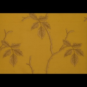 SILK DUPIONI EMBROIDERED-HEAVY - DANDELION [EMBH164]