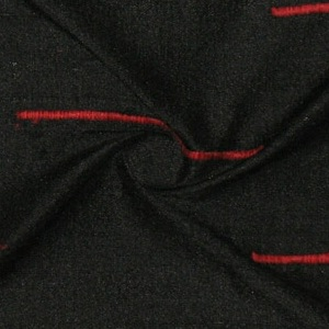 SILK DUPIONI EMBROIDERED-LIGHT - MIDNIGHT [EMBL167]