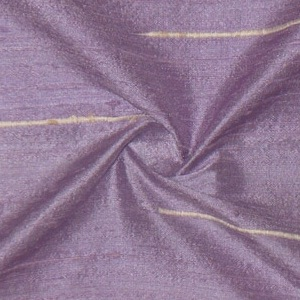 SILK DUPIONI EMBROIDERED-LIGHT - LAVENDER  [EMBL192]