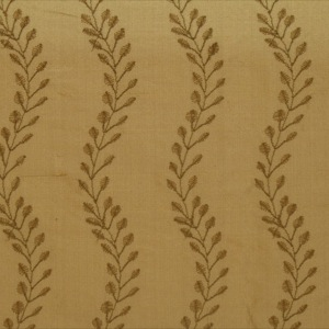 SILK DUPIONI EMBROIDERED-MED - DAPPER TAN [EMBM832]