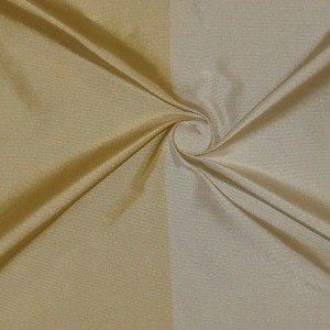 SILK TAFFETA STRIPES - BUFFALO STRP ECRU/FROST GOLD  [TFS408]