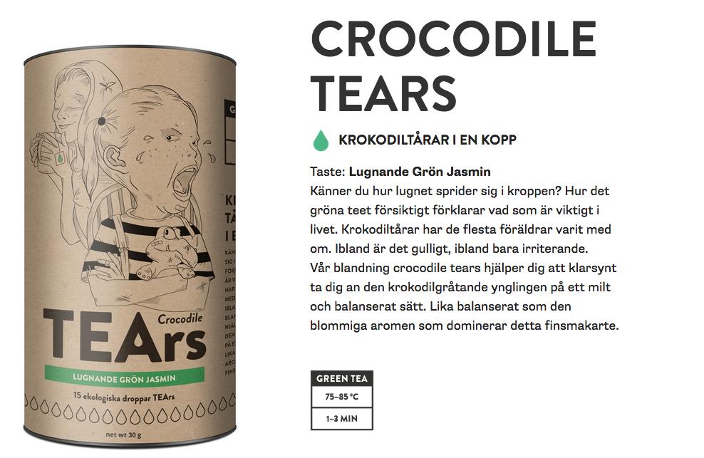 Original crocodile tears