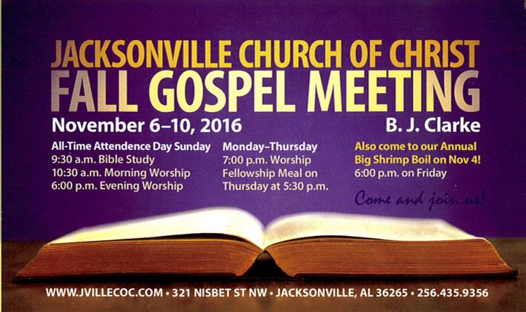 Fall Gospel Meeting (2016)