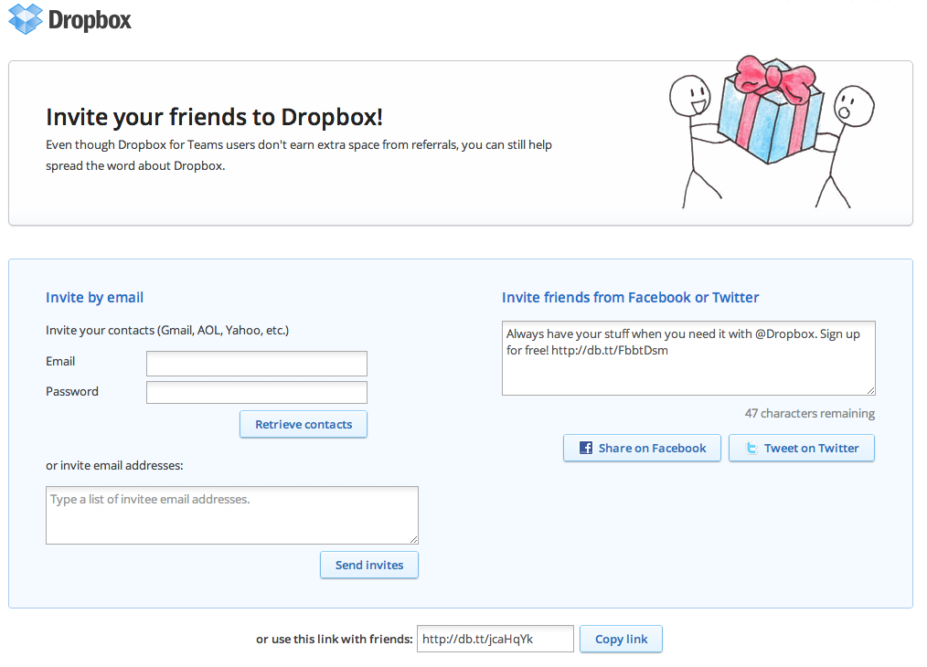 Growth Hacks Case Study Dropbox Invites