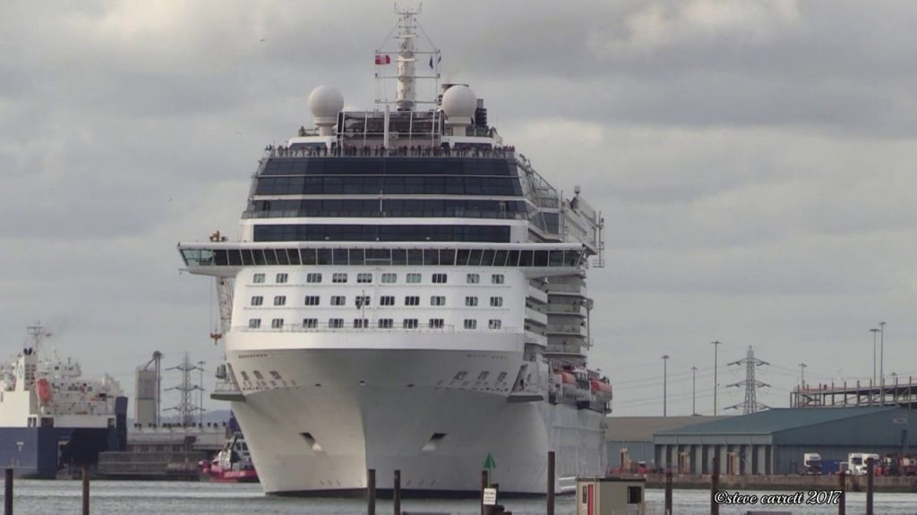 Celebrity Eclipse Southampton Docks outbound 10 Night Cruise 28/9/17