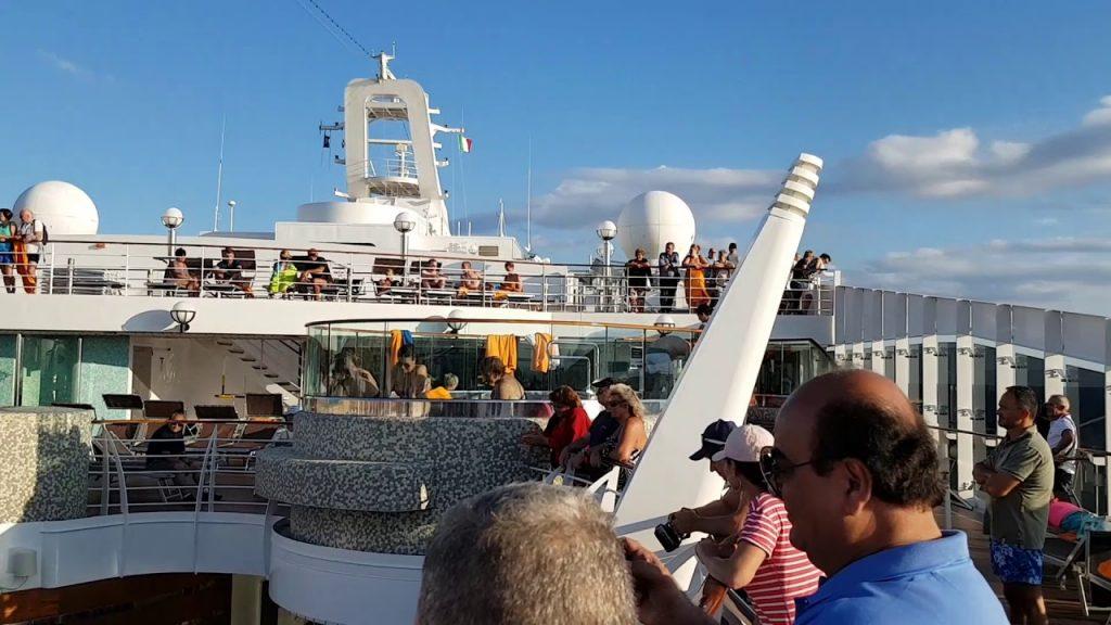 Sail away party on MSC Splendida