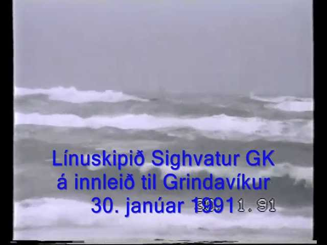 Sighvatur GK inbound Grindavík in heavy sea – Iceland