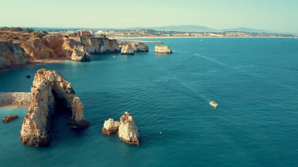 Praia Dona Ana and Praia Do Camilo, Lagos – Portugal, DJI Mavic 4k Drone video